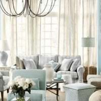 шикарный цвет тиффани в интерьере комнаты фото