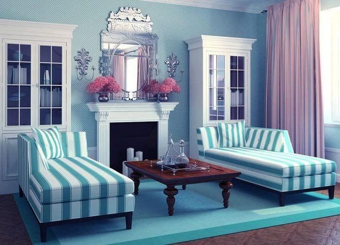 шикарный цвет тиффани в стиле комнаты