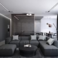 красивый декор гостиной в стиле хай тек фото