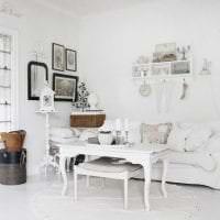 шикарный дизайн квартиры в стиле шебби шик картинка