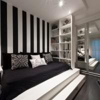 яркий декор кухни в черно белом цвете фото
