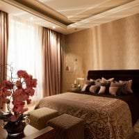 шикарный дизайн спальни в американском стиле картинка