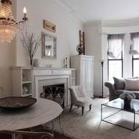 светлый стиль комнаты в стиле шебби шик картинка