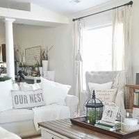шикарный интерьер спальни в стиле шебби шик картинка
