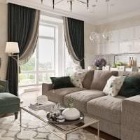 светлый интерьер квартиры в американском стиле картинка