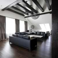 шикарный дизайн коридора в черно белом цвете фото