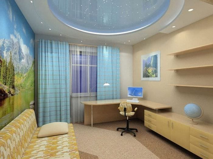 Фото дизайн натяжными потолками
