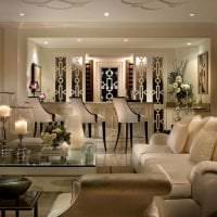светлый интерьер квартиры в стиле арт деко картинка