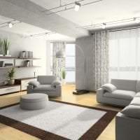 красивый дизайн спальни в стиле хай тек фото