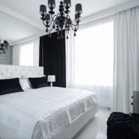 красивый интерьер прихожей в черно белом цвете фото