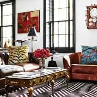 стиль квартиры в стиле стимпанк с кожаной оббивкой картинка