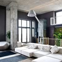 интерьер потолка с бетоном в доме фото