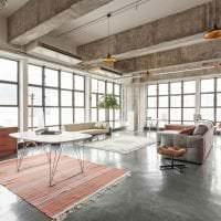 отделка потолка с раствором бетона в спальне картинка