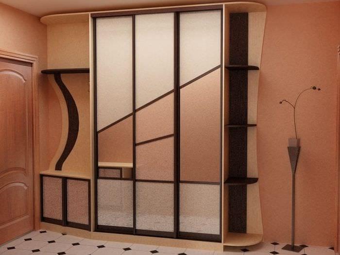 интерьер углового шкафа в спальне из мдф