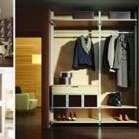 дизайн углового шкафа в гостиной из мдф картинка