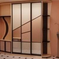 стиль шкафа в спальне из дерева фото