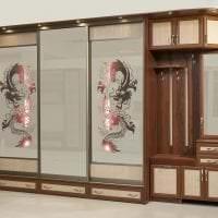 дизайн углового шкафа в прихожей из мдф картинка