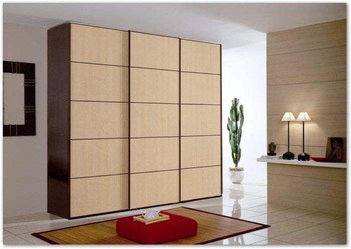 дизайн шкафа в коридоре из дерева