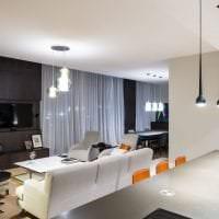 красивый дизайн коридора в стиле хай тек картинка