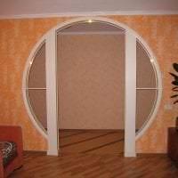 светлая арка в дизайне спальни картинка