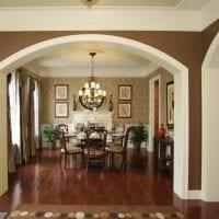 красивая арка в дизайне гостиной картинка