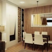 яркая бамбуковая 3д панель в коридоре фото