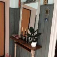 отделка вагонкой ярком интерьере дома из мдф