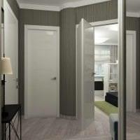 белые двери в интерьере с оттенком лимонного картинка
