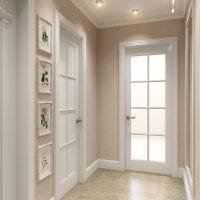 светлые двери в стиле с оттенком темного фото