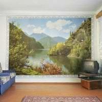 яркие фотообои с цветами в спальню картинка