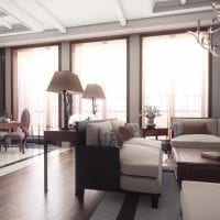 светлый ар деко стиль квартиры картинка