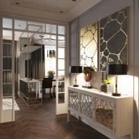 яркий ар деко дизайн гостиной фото