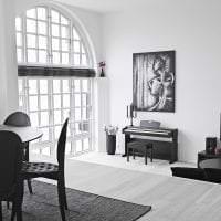 яркий белый пол в дизайне квартиры картинка