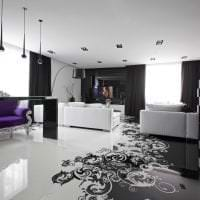 красивый белый пол в стиле коридора картинка