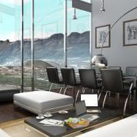 яркий стиль комнаты в стиле хай тек картинка