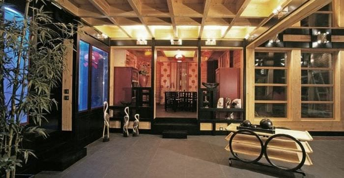 красивый стиль квартиры в японском стиле