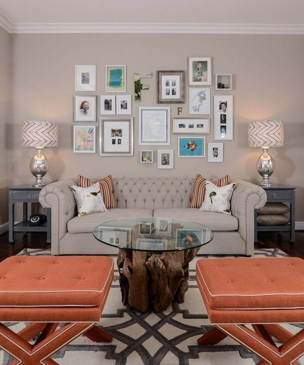 яркий дизайн квартиры в цвете кофе с молоком