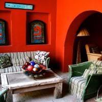 яркий декор квартиры в этническом стиле фото
