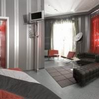 светлый декор гостиной в стиле хай тек картинка