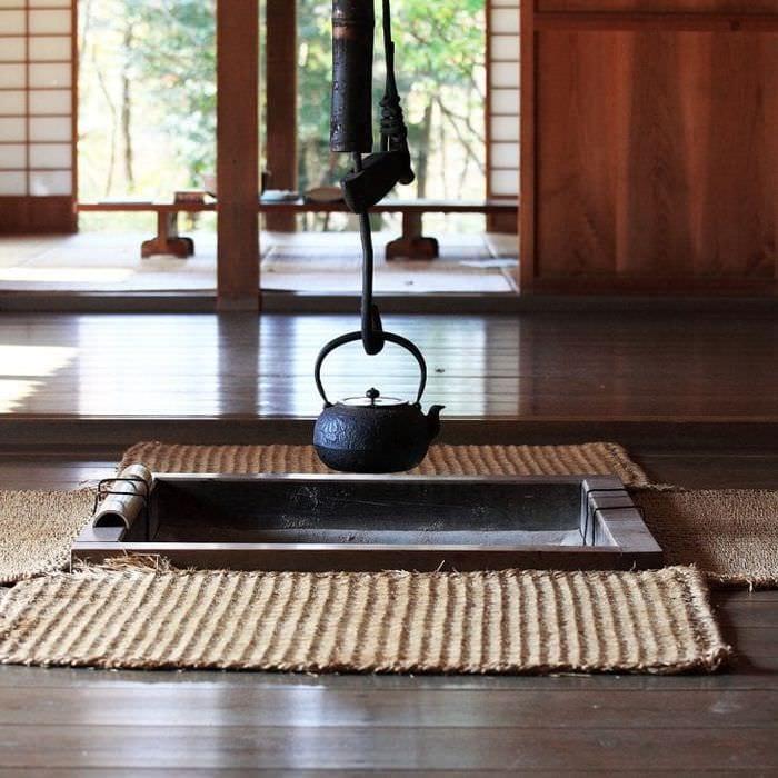 яркий интерьере спальни в японском стиле