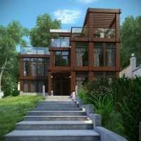 яркий стиль дома в архитектурном стиле фото