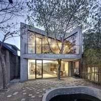 необычный стиль загородного дома в архитектурном стиле картинка