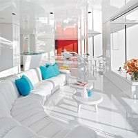 красивый дизайн коридора в белом цвете картинка