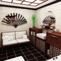 красивый декор коридора в японском стиле фото