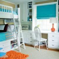 светлый декор квартиры в бирюзовом цвете картинка