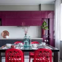 яркий стиль кухни в цвете фуксия картинка