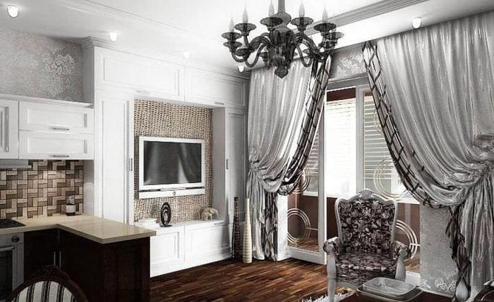 яркий интерьер дома в стиле арт деко