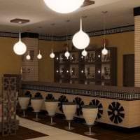 красивый дизайн коридора в этническом стиле фото