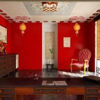 светлый интерьере квартиры в этническом стиле фото