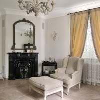 красивый декор гостиной в французском стиле картинка